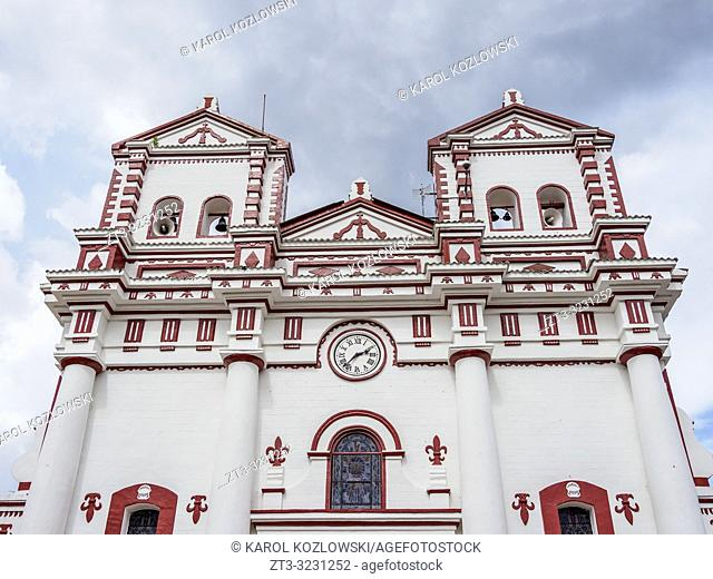 Nuestra Senora Del Carmen Church in Guatape, Antioquia Department, Colombia