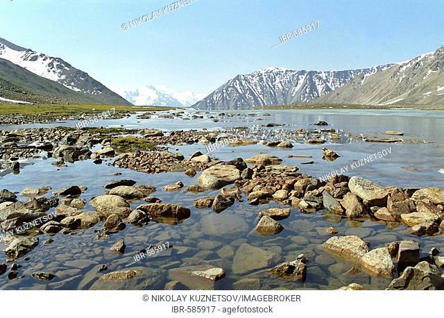 River Ili. National park Ili Alatay, mountains Zailisky Alatau, Almaty area, Kazakhstan