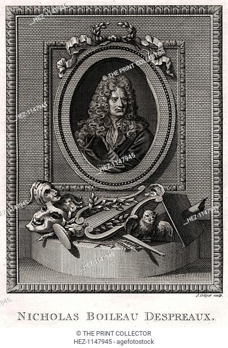 'Nicholas Boileau Despreaux', 1775. Nicolas Boileau-Despréaux, commonly called Boileau, (1636-1711) was a French poet and critic