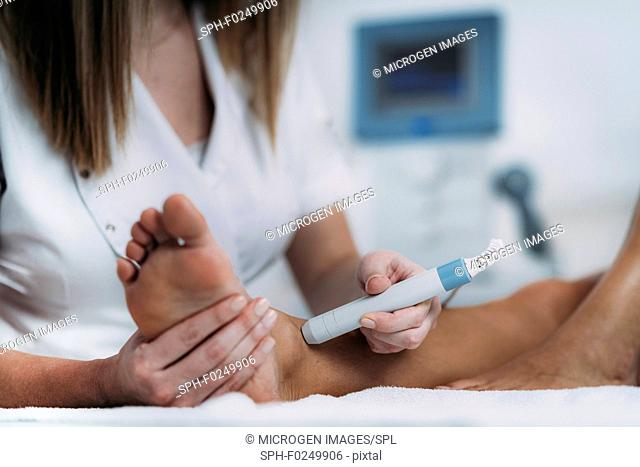 Physiotherapy laser treatment