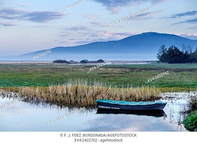 Cerknica lake in autumn, southwestern Slovenia. Europe