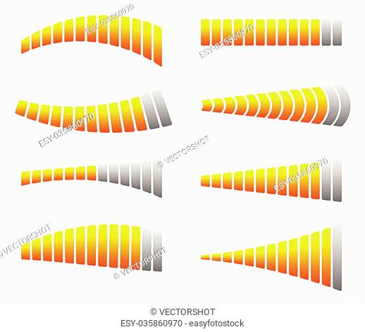 Progress, loading bars. Horizontal bars for measurement, comparison