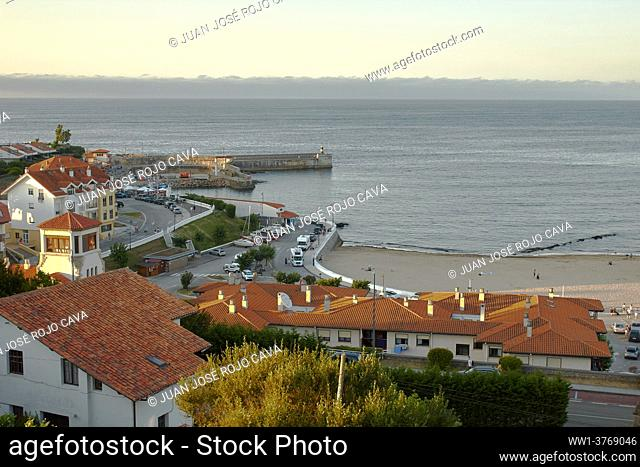 Sunset in Comillas seen from above, Cantabria