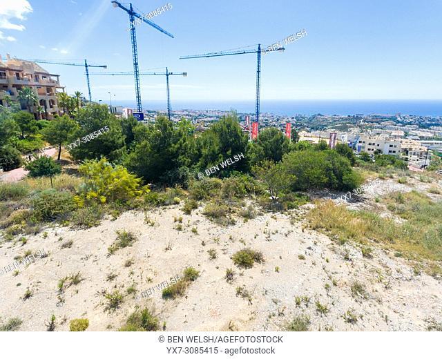 Real estate construction. Benalmadena costa, Malaga, Costa del Sol, Andalusia, Spain