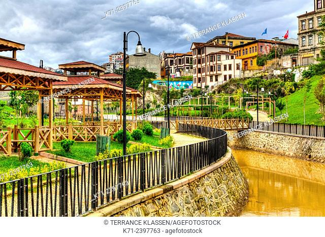The City Park in the Black Sea port of Trabzon, Turkey
