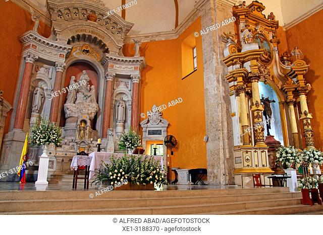 altar of the church of the Convent of Santo Domingo, Cartagena de Indias, Colombia