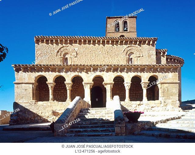 Romanesque church of San Miguel (11th century), San Esteban de Gormaz. Soria province, Castilla-León, Spain