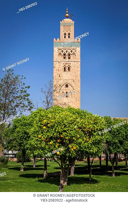 The Koutoubia Mosque and Gardens, Marrakech, Morocco