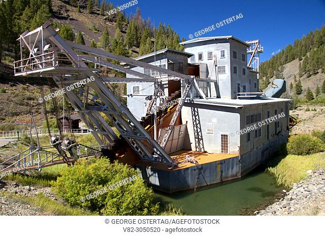 Yankee Fork Dredge, Land of the Yankee Fork Historic Area, Custer Motorway, Salmon-Challis National Forest, Idaho