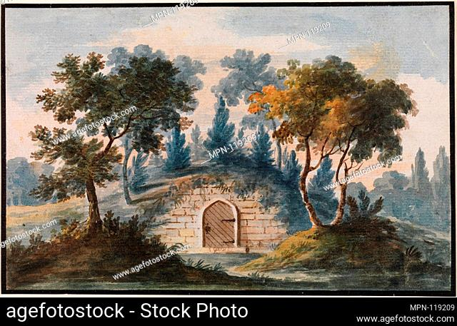 General Washington's Tomb at Mount Vernon (Copy after Engraving in The Port Folio Magazine, 1810). Artist: Pavel Petrovich Svinin (1787/88-1839); Date: 1811-ca