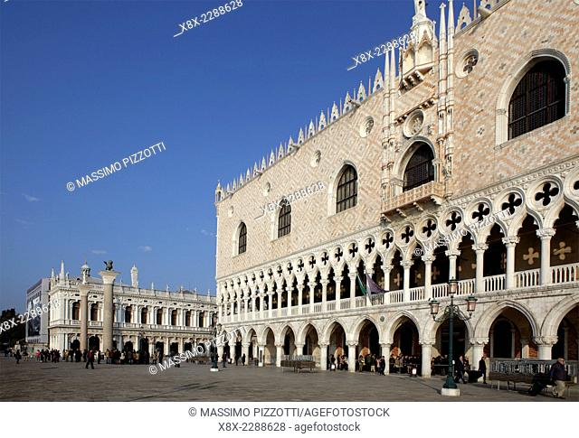 Doge's Palace in St. Mark's Square, Venice, Italy