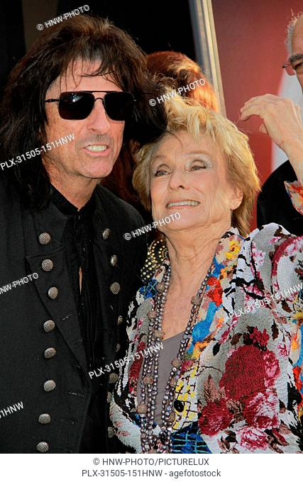 Alice Cooper, Cloris Leachman 05/07/2012 Dark Shadows Premiere held at Grauman's Chinese Theater in Hollywood, CA Photo by Manae Nishiyama / HollywoodNewsWire