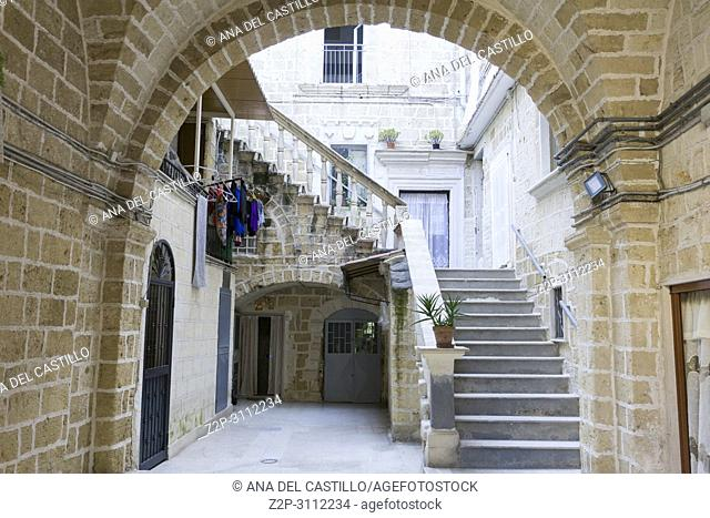 Old town of Bari in Puglia Italy on July 14, 2018