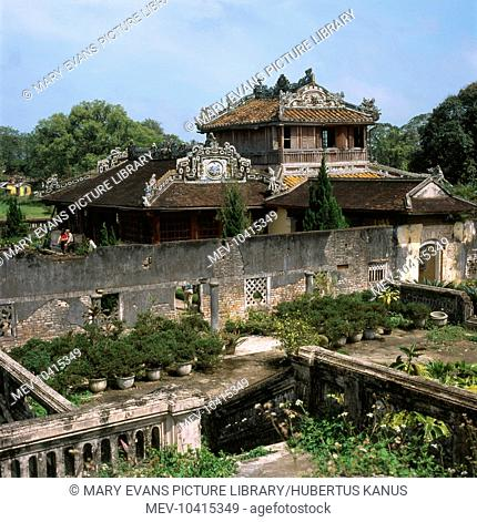 The Thai Binh Reading Pavilion in the former Imperial City of Hue, in Thua Thien Hue Province, Vietnam. This was originally the Emperor's library and reading...