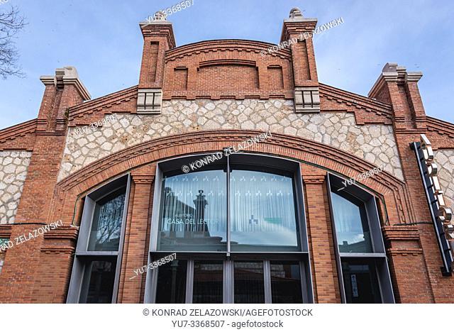 La Casa Del Lector building - The Readers House in Matadero Madrid arts centre located in former slaughterhouse in Arganzuela district, Madrid, Spain