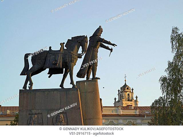 Monument to Grand Duke Gediminas, Cathedral Square, Vilnius, Lithuania