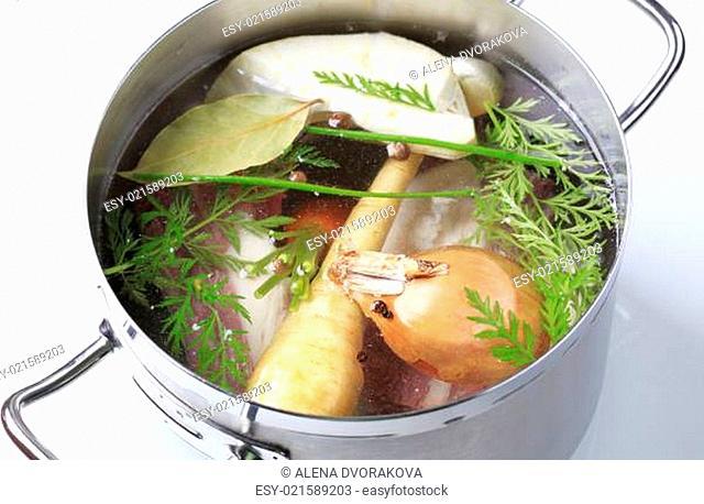 Soup preparation