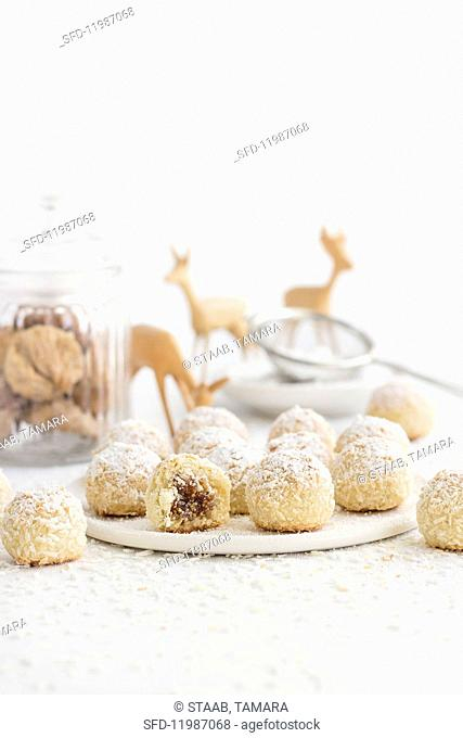 Coconut snowballs for Christmas