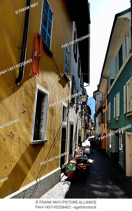 View of the city of Ascona in the Switzerland area Ticino, 24.September 2017. Photo: Frank May   usage worldwide. - Ascona/Tessin/Switzerland