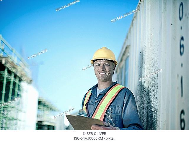 Construction worker standing on site