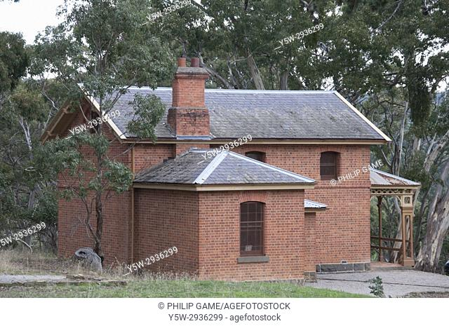 Historic courthouse in the ghost town of Steiglitz in the Brisbane Ranges, Victoria, Australia