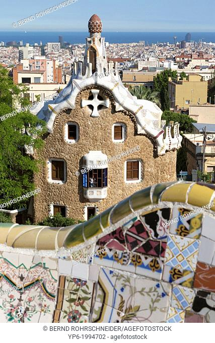 Park Güell, architect Antoni Gaudí­, Barcelona, Spain