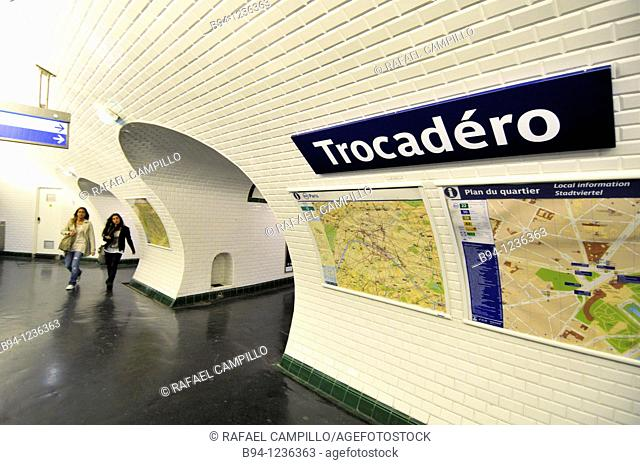 Trocadero subway station, Paris, France
