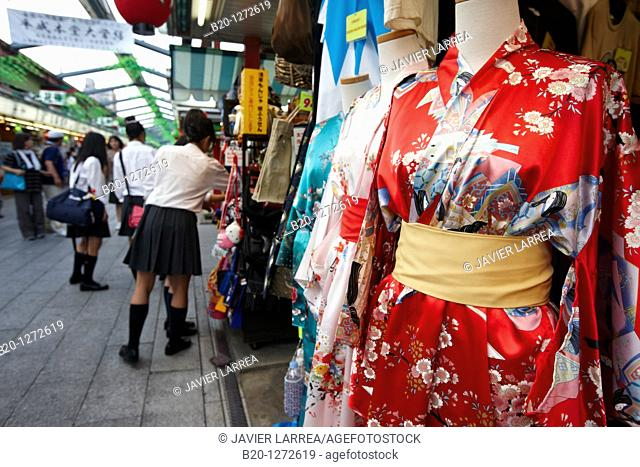 Souvenirs, Nakamise shopping street, Asakusa, Tokyo, Japan