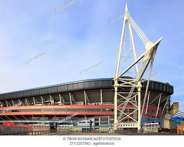 UK, Wales, Cardiff, Millennium Stadium,