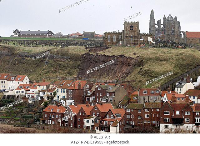 CLIFFTOP GRAVEYARD LANDSLIDE; ST.MARY'S CHURCH, WHITBY; 10/01/2013