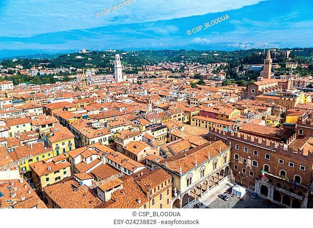 Aerial view of Verona, Italy