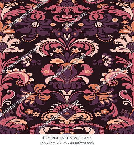 Wrapping wallpaper floral seamless tile for website vector, repe