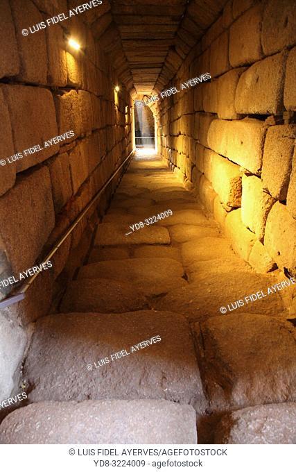 Cistern of the Alcazaba, Arabian fortress, Merida, Extremadura, Spain