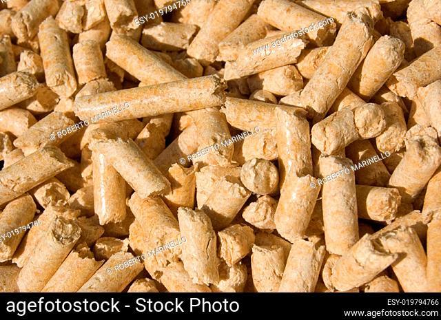 wood pellets texture