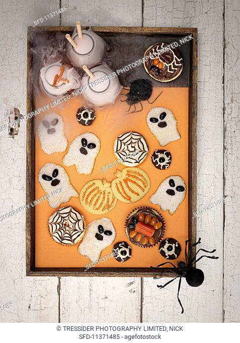 Assorted biscuits for Halloween