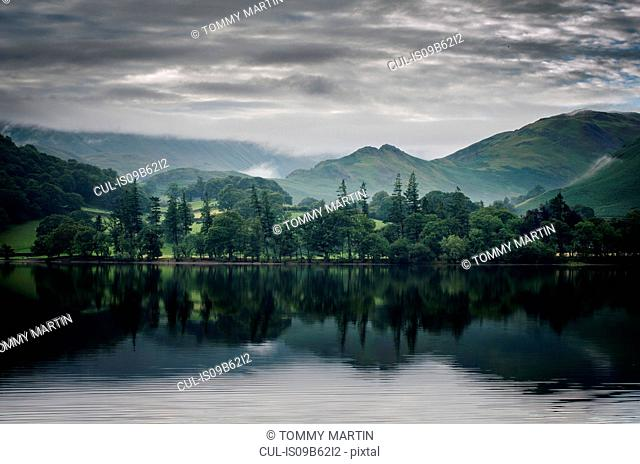 Martindale, seen across Ullswater lake, The Lake District, UK