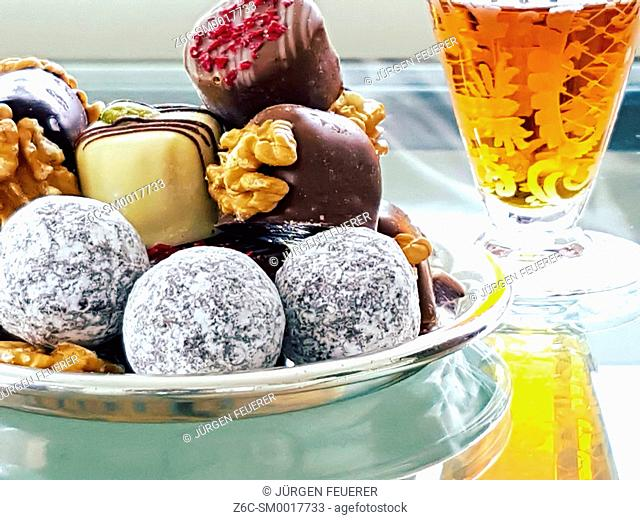 chocolates sweets and alcohol