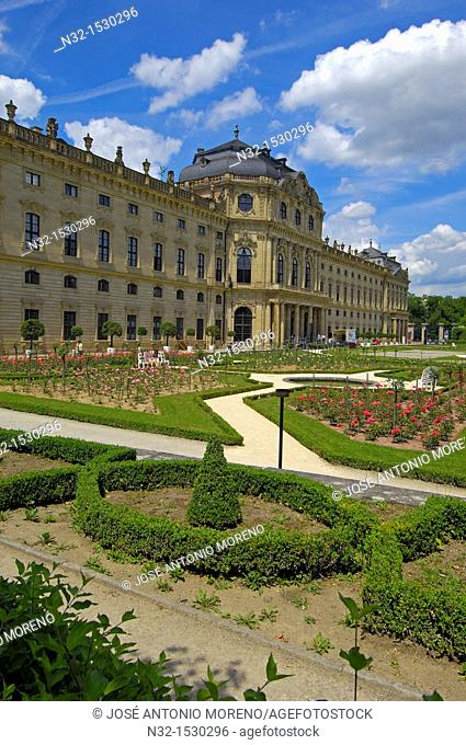 Wurzburg, Würzburg, Residenz, Würzburg Residenz, Hofgarten Park, Hof Garden, UNESCO World Heritage Site, Romantic Road, Romantische Strasse, Franconia, Bavaria
