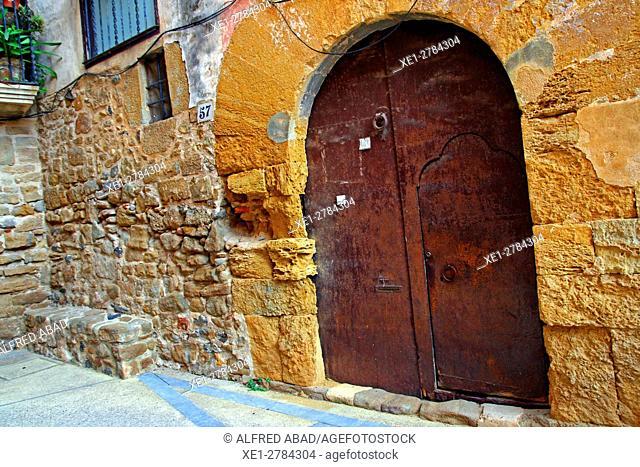 Metal door, Rupiá, Girona, Catalonia, Spain