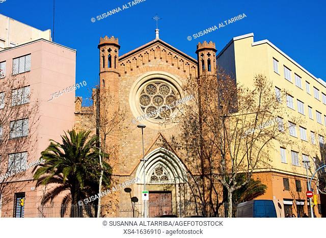 """Chapel School """"Nuestra Sra. Del Rosario."""" C / Roger de Flor corner C / Mallorca Barcelona, Spain, Europe"""