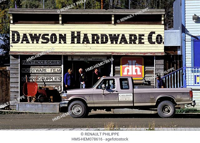 Canada, Yukon, Dawson city, hardware shop