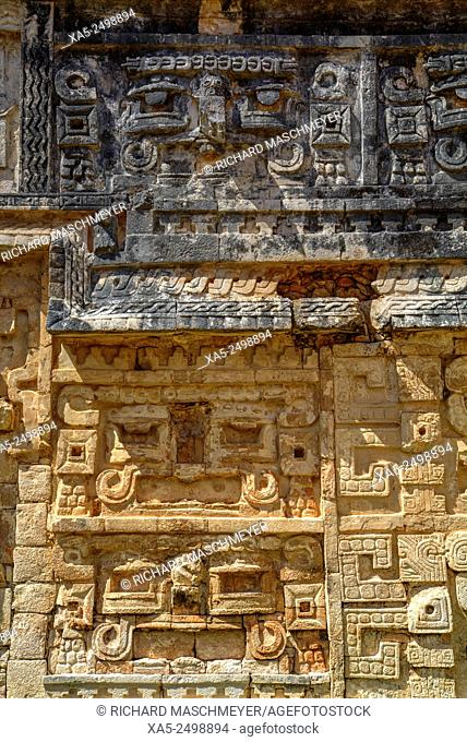 Stone Carvings, The Nunnery (Las Monjas), Chichen Itza, Yucatan, Mexico