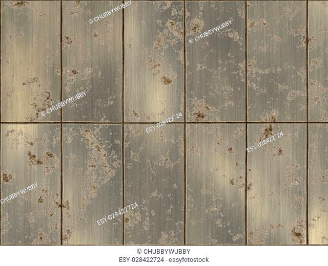 rusted panel abstract artwork