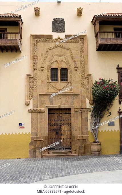 Las Palmas, Casa de Colon, museum, principal theme: Columbus and his travels, Old Town, facade
