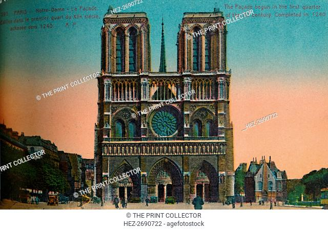 Notre-Dame Cathedral, Paris, c1920. Artist: Unknown
