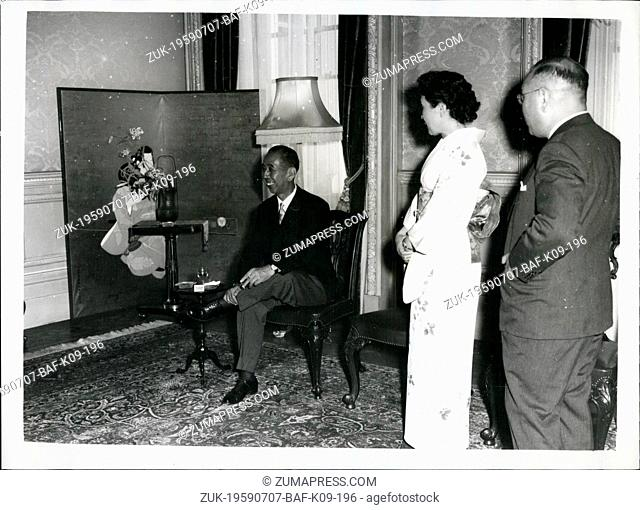 Jul. 07, 1959 - Japanese Premiere Attends Reception: The Japanese Ambassador in London this evening held a reception at his residence in Kensington...