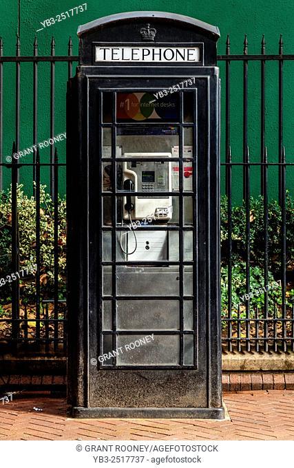 Black Telephone Box, London, England
