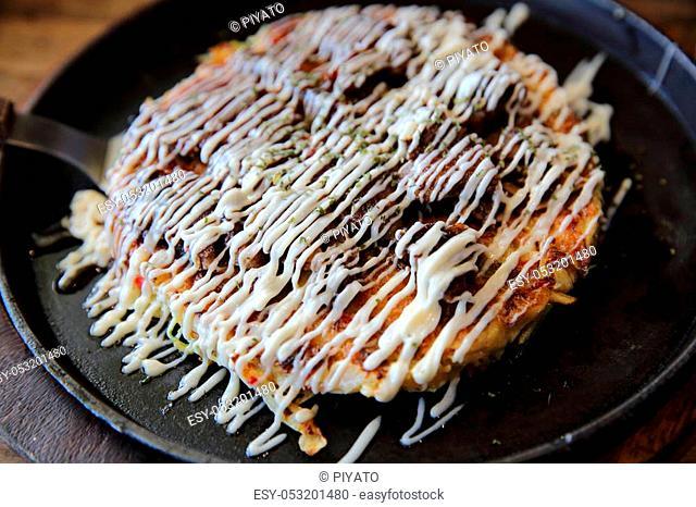 Japanese food okonomiyaki, Japanese pizza