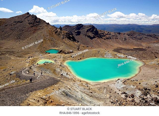 Emerald Lakes on the Tongariro Alpine Crossing, Tongariro National Park, UNESCO World Heritage Site, North Island, New Zealand, Pacific