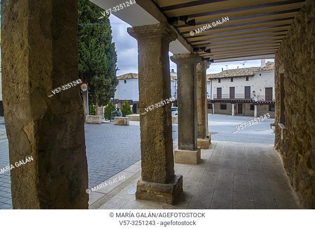 Main Square. Almonacid de Zorita, Guadalajara province, Castilla La Mancha, Spain